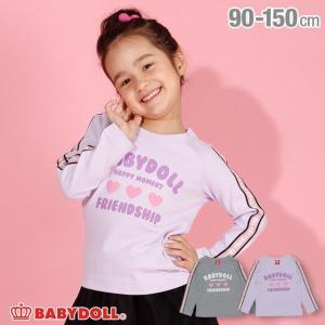 ベビードール BABYDOLL 子供服 袖ラインロゴ ロンT 3164K キッズ 女の子|babydoll-y