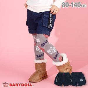 ベビードール BABYDOLL 子供服 ロゴテープ デニム ショートパンツ 3198K キッズ 女の子|babydoll-y