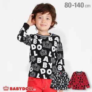 ベビードール BABYDOLL 子供服 ロゴ 総柄 ロンT 3275K キッズ 男の子 女の子|babydoll-y