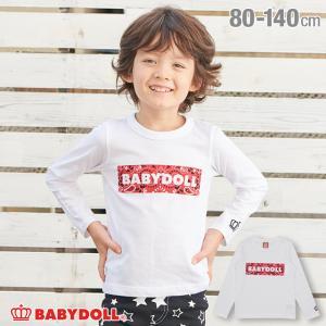 税抜990円 SALE ベビードール BABYDOLL 子供服 ロンT ロゴ ボックス 3363K キッズ 男の子 女の子|babydoll-y