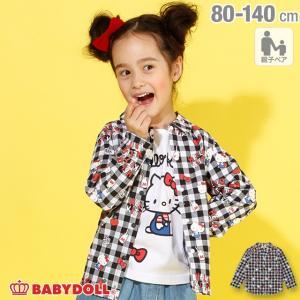 ベビードール BABYDOLL 子供服 親子お揃い サンリオ キャラクター ギンガムチェック シャツ 3424K キッズ 女の子|babydoll-y