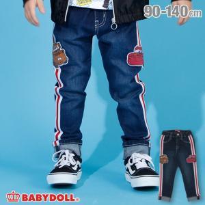 ベビードール BABYDOLL 子供服 ディズニー サイドライン デニム ロングパンツ 3559K キッズ 男の子 女の子 DISNEY|babydoll-y