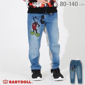 ベビードール BABYDOLL 子供服 ディズニー デニム切替 ロングパンツ 3586K キッズ 男の子 女の子 DISNEY babydoll-y