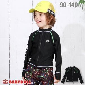 50%OFF SALE ベビードール BABYDOLL 子供服 水着 袖ロゴ ラッシュガード 3716K キッズ 男の子 女の子|babydoll-y