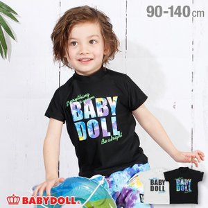 50%OFF SALE ベビードール BABYDOLL 子供服 水着 ロゴ メッセージ ラッシュガード 3718K キッズ 男の子 女の子|babydoll-y