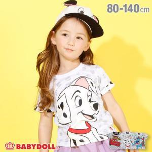 30%OFF SALE ベビードール BABYDOLL 子供服 ディズニー Tシャツ BIGフェイス 裏総柄 3743K キッズ 男の子 女の子 DISNEY|babydoll-y