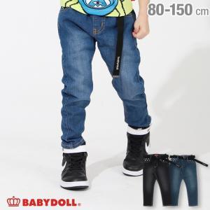ベビードール BABYDOLL 子供服 ベルト付 デニム ロングパンツ 3784K キッズ 男の子 女の子 babydoll-y