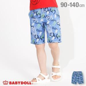 50%OFF SALE ベビードール BABYDOLL 子供服 ディズニー ハーフパンツ 総柄 3846K キッズ 男の子 女の子 DISNEY|babydoll-y