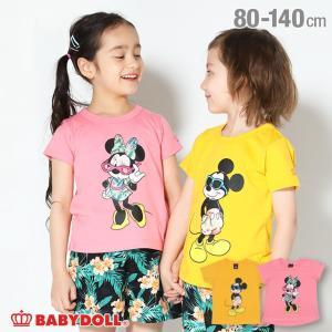 30%OFF SALE ベビードール BABYDOLL 子供服 ディズニー トロピカル キャラクター Tシャツ 3853K キッズ 男の子 女の子 DISNEY|babydoll-y