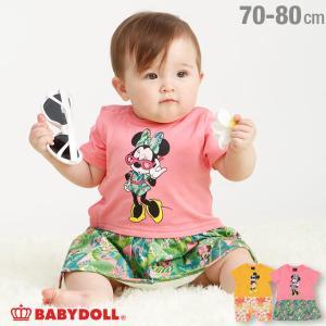 30%OFF SALE ベビードール BABYDOLL 子供服 ディズニー トロピカル キャラクター ロンパース 3855K 男の子 女の子 DISNEY|babydoll-y