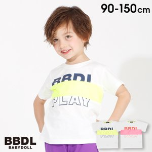 50%OFF SALE ベビードール BABYDOLL 子供服 BBDL Tシャツ ロゴ切替 3972K キッズ ジュニア 男の子 女の子|babydoll-y