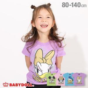 ベビードール BABYDOLL 子供服 ディズニー Tシャツ キャラ ペイント 4027K キッズ 男の子 女の子 DISNEY|babydoll-y