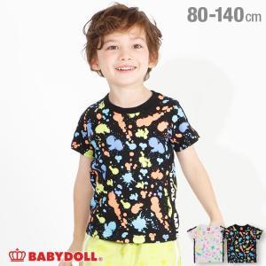 50%OFF SALE ベビードール BABYDOLL 子供服 Tシャツ カラフル ペイント 4030K キッズ 男の子 女の子|babydoll-y