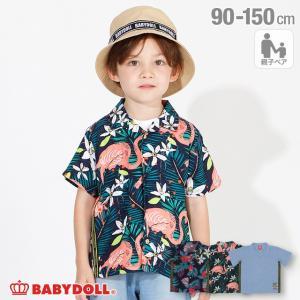 50%OFF SALE ベビードール BABYDOLL 子供服 シャツ 親子お揃い ロゴテープ 4039K キッズ 男の子 女の子|babydoll-y