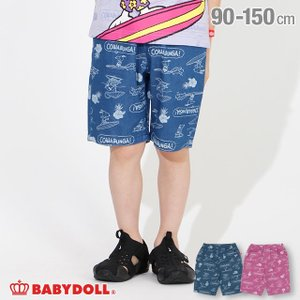 50%OFF ベビードール BABYDOLL 子供服 通販限定 スヌーピー ハーフパンツ サーフ総柄 4055K キッズ 男の子 女の子 babydoll-y