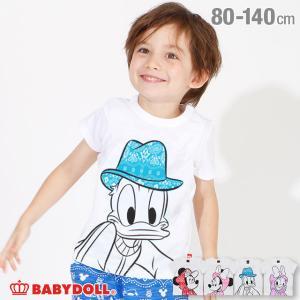 30%OFF SALE ベビードール BABYDOLL 子供服 ディズニー Tシャツ BIGフェイス ペイズリー柄 4090K キッズ 男の子 女の子 DISNEY|babydoll-y