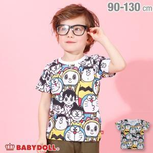ベビードール BABYDOLL 子供服 ドラえもん キャラクター 総柄 Tシャツ 4100K キッズ 男の子 女の子|babydoll-y