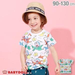ベビードール BABYDOLL 子供服 ドラえもん 恐竜 総柄 Tシャツ 4101K キッズ 男の子 女の子|babydoll-y
