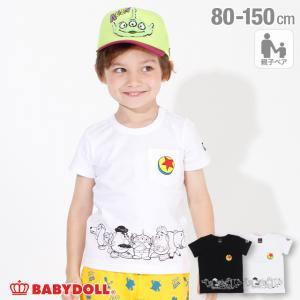30%OFF SALE ベビードール BABYDOLL 子供服 ディズニー Tシャツ 親子お揃い バック ロゴ 4107K キッズ 男の子 女の子 DISNEY|babydoll-y