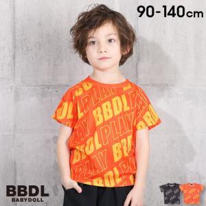 50%OFF SALE ベビードール BABYDOLL 子供服 BBDL Tシャツ 斜め総柄 4131K キッズ 男の子 女の子 babydoll-y