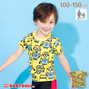 30%OFF SALE ベビードール BABYDOLL 子供服 ミニオン Tシャツ 親子お揃い 総柄 4167K キッズ 男の子 女の子|babydoll-y