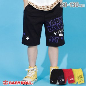 30%OFF SALE ベビードール BABYDOLL 子供服 ハーフパンツ ランダム ロゴ 4185K キッズ 男の子 女の子|babydoll-y