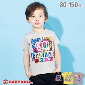 50%OFF SALE ベビードール BABYDOLL 子供服 Tシャツ 親子お揃い 箔 ヒョウ柄 4201K キッズ 男の子 女の子|babydoll-y