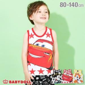 30%OFF SALE ベビードール BABYDOLL 子供服 ディズニー タンクトップ BIGフェイス 4205K キッズ 男の子 女の子 DISNEY|babydoll-y