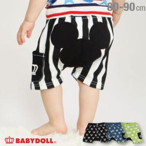 30%OFF SALE ベビードール BABYDOLL 子供服 ディズニー ショートモンキーパンツ 総柄 4206B キッズ 男の子 女の子 DISNEY|babydoll-y