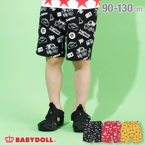 30%OFF SALE ベビードール BABYDOLL 子供服 ディズニー ハーフパンツ 総柄 4207K キッズ 男の子 女の子 DISNEY|babydoll-y