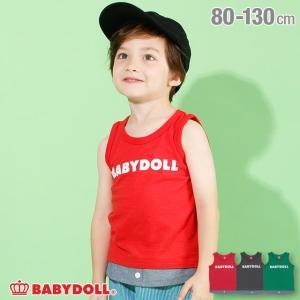 30%OFF SALE ベビードール BABYDOLL 子供服 タンクトップ レイヤード 4222K キッズ 男の子 女の子|babydoll-y