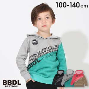 50%OFF ベビードール BABYDOLL 子供服 BBDL パーカー 斜め切替 4273K キッズ 男の子 女の子 babydoll-y