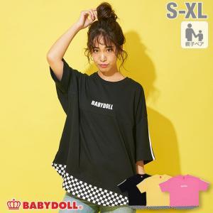 50%OFF SALE ベビードール BABYDOLL 子供服 Tシャツ 親子お揃い レイヤード 4312A 大人 レディース メンズ|babydoll-y