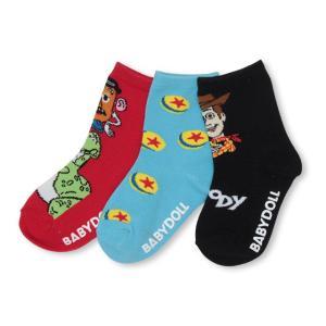 ベビードール BABYDOLL 子供服 ディズニー 靴下 3足セット クルーソックスセット 4329 キッズ 男の子 女の子|babydoll-y
