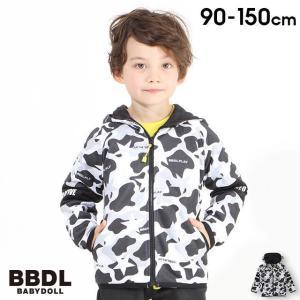 50%OFF ベビードール BABYDOLL 子供服 BBDL ジップパーカー 迷彩 切替ロゴ 4403K (ボトム別売) キッズ 男の子 女の子 babydoll-y