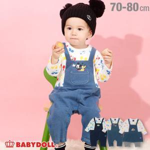 ベビードール BABYDOLL 子供服 ディズニー ロンパース サロペット 4416B ベビーサイズ 男の子 女の子 DISNEY|babydoll-y
