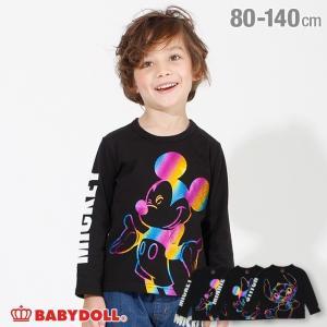 50%OFF SALE ベビードール BABYDOLL 子供服 ディズニー ロンT グリッター 4439K キッズ 男の子 女の子 DISNEY|babydoll-y