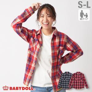 50%OFF SALE ベビードール BABYDOLL 子供服 チェックシャツ 親子お揃い 4452A 大人 レディース メンズ babydoll-y