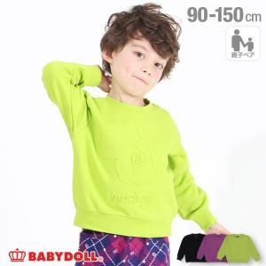 30%OFF SALE ベビードール BABYDOLL 子供服 ディズニートレーナー エンボス 親子お揃い 4531K キッズ 男の子 女の子 DISNEY|babydoll-y
