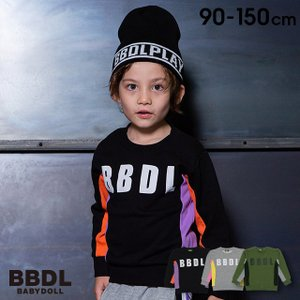 50%OFF SALE ベビードール BABYDOLL 子供服 BBDL トレーナー サイドカラー 切替 4560K キッズ 男の子 女の子 babydoll-y