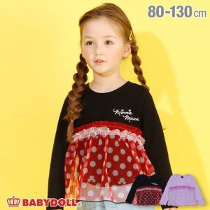 50%OFF SALE  ベビードール BABYDOLL 子供服 ディズニー ロンT チュール チュニック 4596K キッズ 女の子 DISNEY|babydoll-y