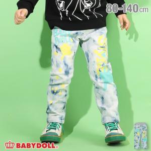 ベビードール BABYDOLL 子供服 ロングパンツ ラクガキ デニム 4839K キッズ 男の子 女の子 babydoll-y