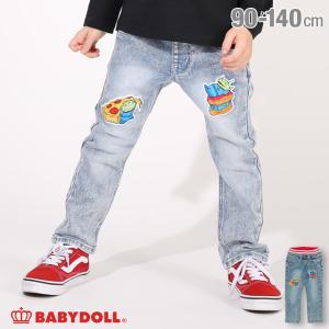 ベビードール BABYDOLL 子供服 ディズニー ロングパンツ キャラ ワッペン デニム 4854K (トップス別売) キッズ 男の子 女の子 DISNEY|babydoll-y