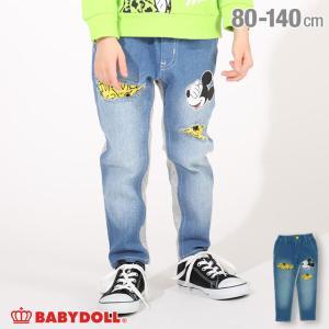 ベビードール BABYDOLL 子供服 ディズニー ロングパンツ ダメージ デニム 4857K キッズ 男の子 女の子 DISNEY|babydoll-y