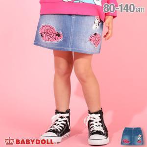 ベビードール BABYDOLL 子供服 ディズニー スカート ダメージ デニム 4858K キッズ  女の子 DISNEY|babydoll-y