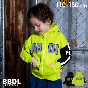 50%OFF SALE ベビードール BABYDOLL 子供服 BBDL ジップパーカー ロゴライン 4911K キッズ 男の子 女の子 babydoll-y