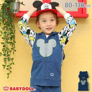 ベビードール BABYDOLL 子供服 ディズニー ベスト サイド切替 なりきり 4921K (ボトム別売) キッズ 男の子 女の子 DISNEY|babydoll-y