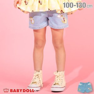 50%OFF SALE ベビードール BABYDOLL 子供服 ディズニー ショートパンツ  プリンセス デニム 4950K (トップス別売) キッズ 女の子 DISNEY|babydoll-y