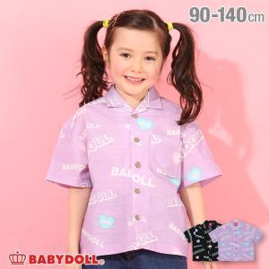 ベビードール BABYDOLL 子供服 シャツ ロゴ総柄 ボーリング 4984K キッズ 男の子 女の子|babydoll-y