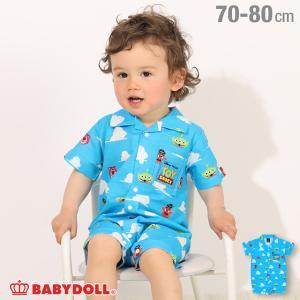 ベビードール BABYDOLL 子供服 ディズニー ロンパース ビットマップ柄 4992B ベビーサイズ 男の子 女の子 DISNEY|babydoll-y